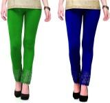 RobinRomeo Women's Green, Blue Leggings ...