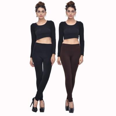 Both11 Women's Black, Brown Leggings