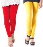 Fbling Women's Red, Yellow Leggings (Pac...