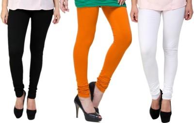Lienz Women's Black, Orange, White Leggings