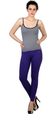 Twin Birds Women's Purple Leggings