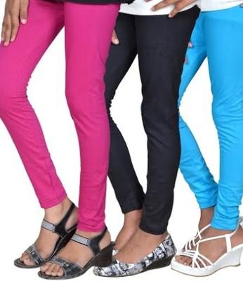 Aaradhyaa Women,s Black, Pink, Blue Leggings