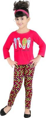 Yellow Dots Girl's Multicolor Leggings