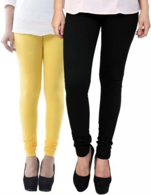 Hirshita Leggingss Women's Yellow, Black Leggings