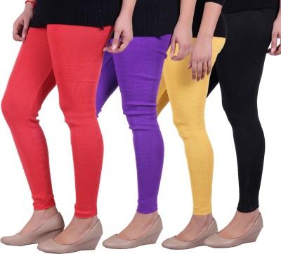 Sellsy Women's Orange, Purple, Yellow, Black Leggings