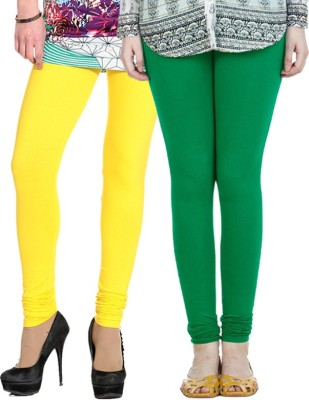 NGT Women's Yellow, Dark Green Leggings
