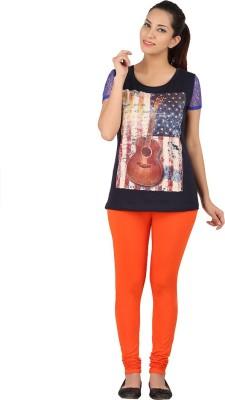 Dansik Women's Orange Leggings