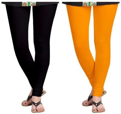 Roshni Creations Women,s Black, Orange Leggings