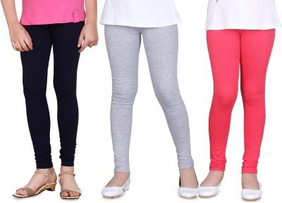 Sini Mini Girl's Blue, Grey, Pink Leggings