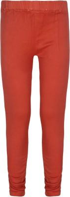 Jazzup Girl's Orange, Red Jeggings