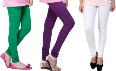 Lienz Women's Green, Purple, White Leggings