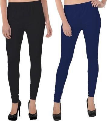 X-Cross Women's Black, Dark Blue Leggings