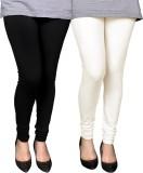 PAMO Women's Black, White Leggings (Pack...