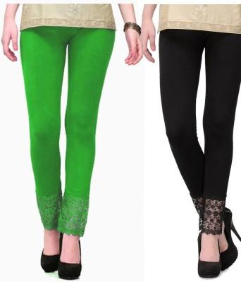 MDS Jeans Women's Green, Black Leggings
