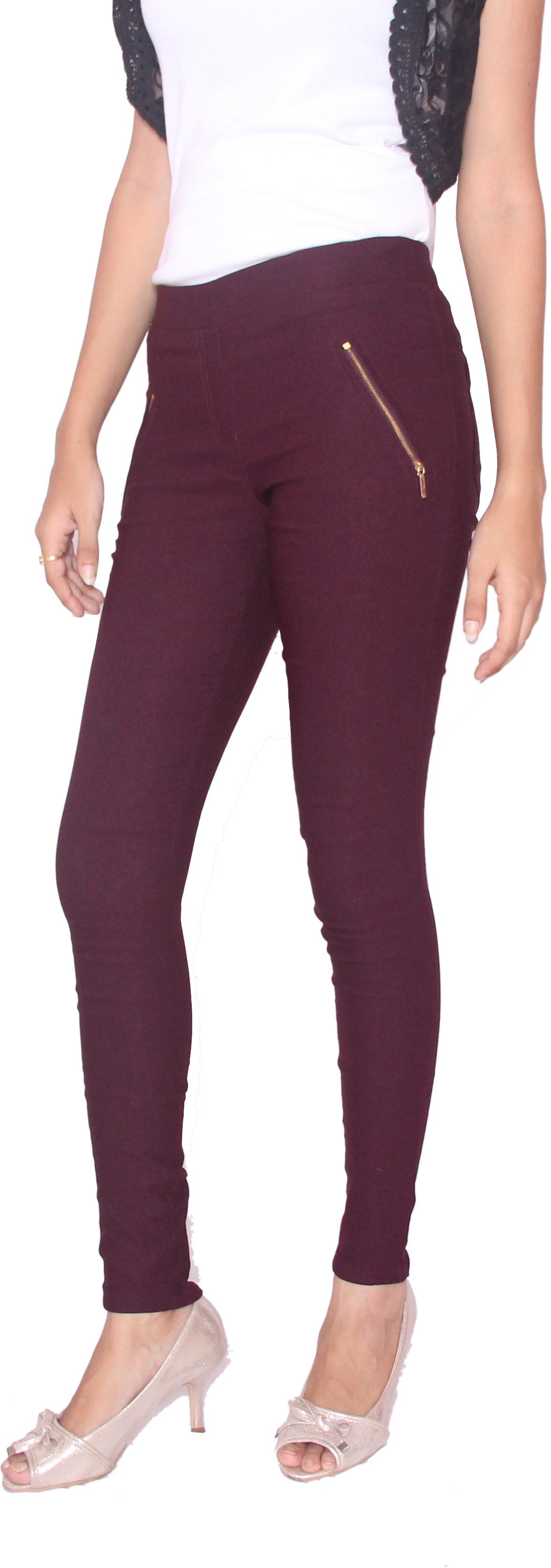 Fungus Womens Maroon Jeggings