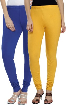 Fexy Women's Dark Blue, Yellow Leggings