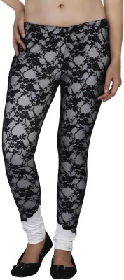 SOIE Women's Black Jeggings at flipkart