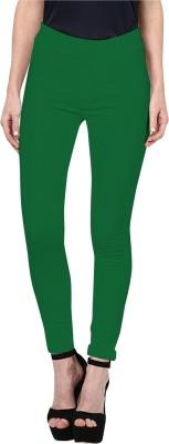 Triveni Women's Dark Green Leggings