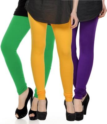 Kjaggs Women's Yellow, Green, Purple Leggings