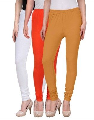 Desi Duos Women's Brown, Orange, White Leggings