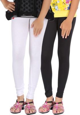 Be Style Girl's White, Black Leggings