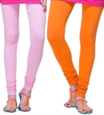 Zadine Women's Pink, Orange Leggings