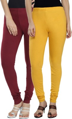 Fexy Women's Maroon, Yellow Leggings