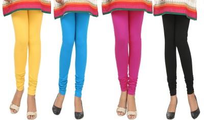 Agrima Fashion Women's Yellow, Light Blue, Pink, Black Leggings