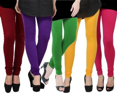 Kjaggs Women's Green, Yellow, Maroon, Purple, Pink Leggings