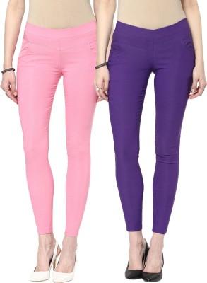 Zea-Al Women's Pink, Purple Jeggings