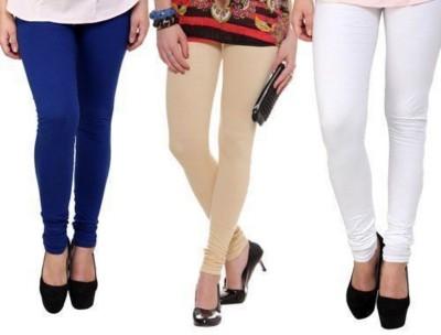 JUST CLIKK Women's Blue, Gold, White Leggings