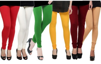 shikha Women's Red, White, Green, Yellow, Maroon, Beige Leggings
