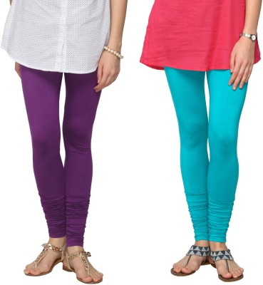 Fashionjackpot Women's Purple, Light Blue Leggings