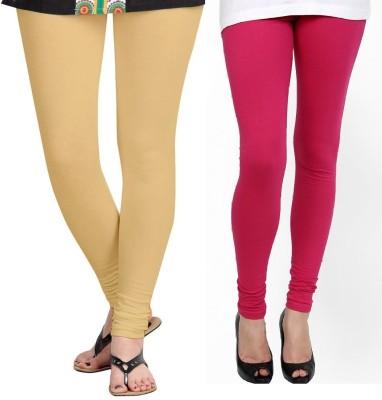 ZACHARIAS Women's Beige, Pink Leggings