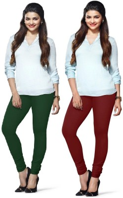Amul Florio Women's Green, Maroon Leggings