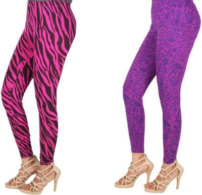 Rampwaq Women's Dark Blue, Pink, Black Leggings