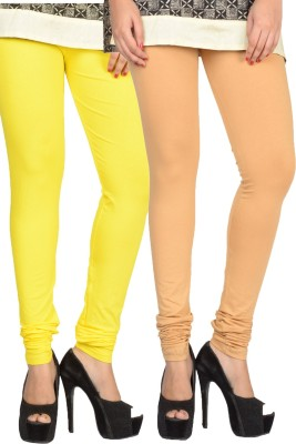17.Hills Womens Beige, Yellow Leggings