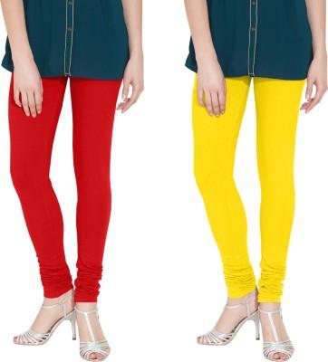 Nicewear Women's Red, Yellow Leggings