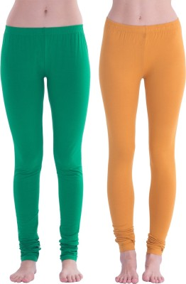 Spictex Girl's Green, Brown Leggings