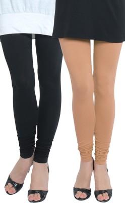 Tulsattva Women's Beige, Black Leggings