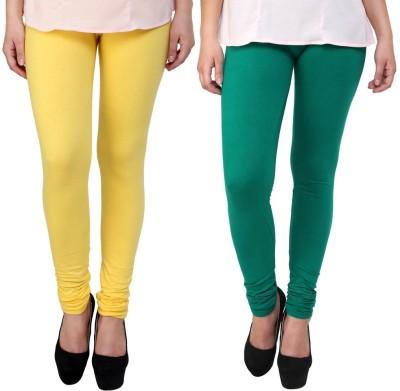 Legemat Girl,s Yellow, Green Leggings