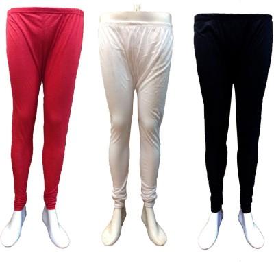 Vanya Enterprises Women's White, Red, Black Leggings