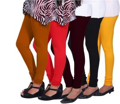 CHIGGY WIGGY Women,s Yellow, Orange, Red, Maroon, Black Leggings