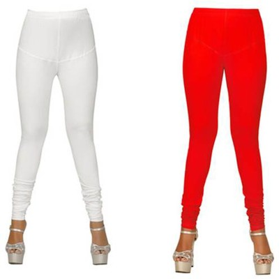 The perfect comfort Women's Red, White Leggings