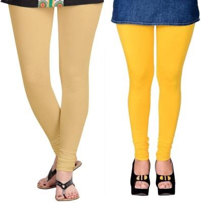 ZACHARIAS Women's Beige, Yellow Leggings