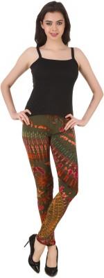 Mojeska Women's Dark Green Leggings