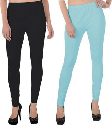 X-Cross Women's Black, Light Blue Leggings