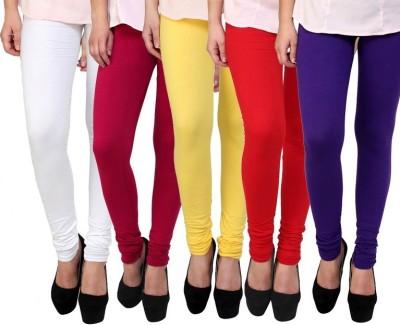 Myra Softwear Women's Yellow, Pink, Blue, White, Red Leggings