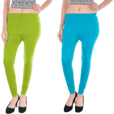 Colors More Women's Light Blue, Light Green Leggings