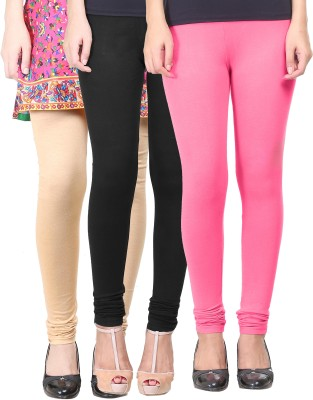 Eshelle Women's Black, Pink, Beige Leggings